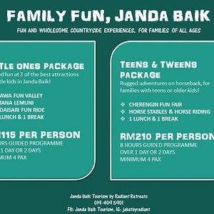It's a fun activity that suitable for you and your kids or family.  You can also customize your own trip