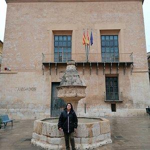 La fuente de la plaza de la Trinidad.