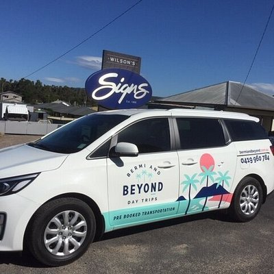 This our little Fun Machine!  We can carry 7 Passengers to great destinations around the  Sapphire Coast