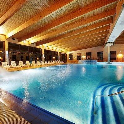 Indoor swimming pool In colder days, you can try the indoor swimming pool with heated sea water, where you can relax in two Jacuzzis or swim in the big swimming pool.