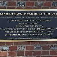 Jamestown Memorial Church Plaque