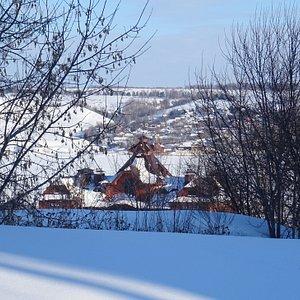 Речной вокзал Свияжска, февраль 2021 года
