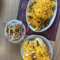 Chili dogs and fries