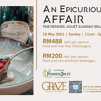 An Epicurious Affair - The Perrier-Jouët Sunday Brunch  16 May 2021 11 Am to 2 PM
