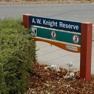Knight Reserve is where the memorial is situated