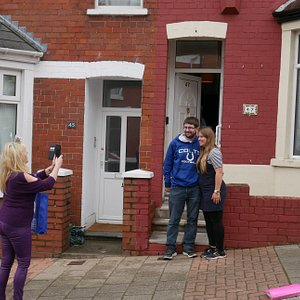 outside Staceys house