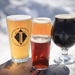 Tuckerman Brewing Co poured beer pale stout ipa brown