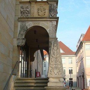 Freitreppe am Rathaus Halberstadt