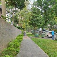 Pedestrian walkway outside Nassim Park Residences