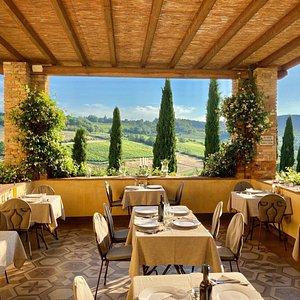 Terrazzo panoramico del nostro ristorante