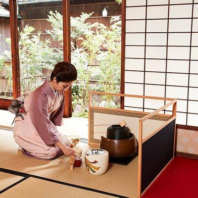 Tea ceremony Maikoya Kyoto