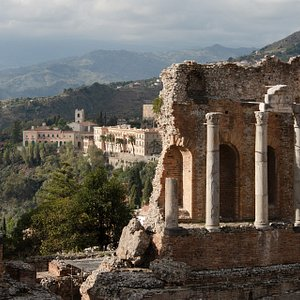 VIEW FROM GREEK THEATRE AND SAN DOMENICO