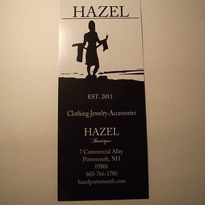 NH - PORTSMOUTH - HAZEL BOUTIQUE - RACK INFO CARD