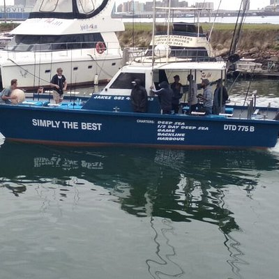 Simply the Best fishing chaters 0824355443. Available for Harbour, Backline, deep sea