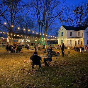 A night under the stars with personal firepits and live music.
