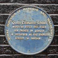 Queen Charlotte Street plaque.