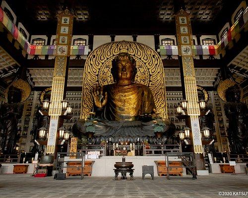 本尊は高さ17mもあり、奈良の大仏を上回り日本一の大きさを誇る。 大仏殿の中も人が少なく、スムーズに参拝することが可能。 また階段を上ると大仏様と同じ目線で参拝することもでき、写真スポットとしても人気