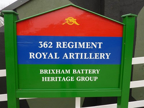 Regimental board at front of Museum.