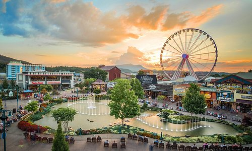 Sunset at the Island in Pigeon Forge