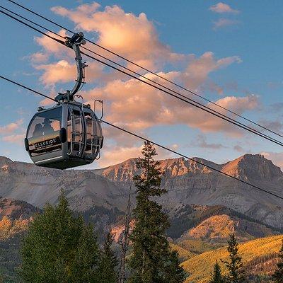 The stunning Telluride Mountain Village Gondola.