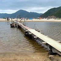 The very wonky bridge at Ham Tin Beach. This is a beautiful and isolated spot in the Sai Kung East Country Park. It's not easily accessible and you can either hike in via the Tai Long Wan Hiking Trail or catch a boat in.