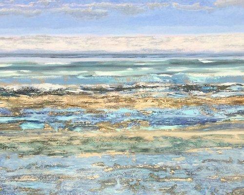 Rita Vansteenlandt, 'Seaflower, De Panne', 130 x 190 cm, olieverf op linnen