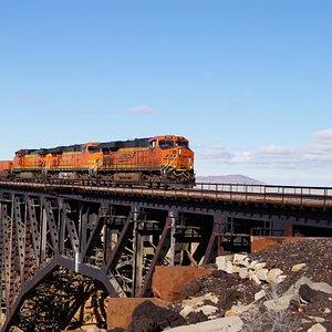 Canyon Diablo Bridge 2014. This is the 3rd railroad Bridge constructed at this site - More info here    https://en.wikipedia.org/wiki/Canyon_Diablo,_Arizona