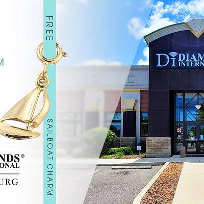 Receive a Free Charm Bracelet & Sailboat Charm When You Visit Diamonds International St. Petersburg.