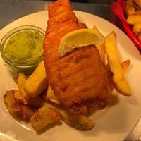 Classic fish and chips with hand cut chips