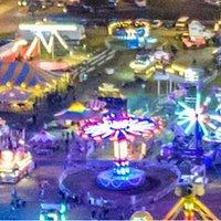 Birds eye view of the fair