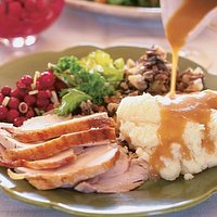 Turkey dinner for special occasions and holidays