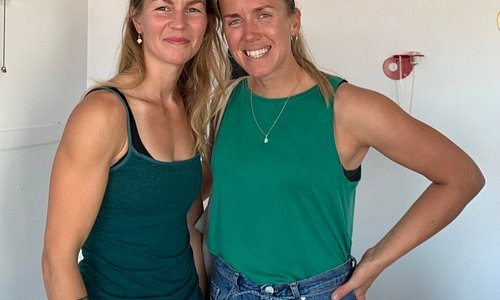 Happy climbing sisters visiting - great seeing you!
