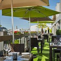 "Terrasse du Restaurant ""Le W"""