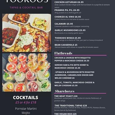 New takeaway menu