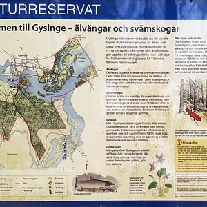 Gysinge naturreservat, infoskylt