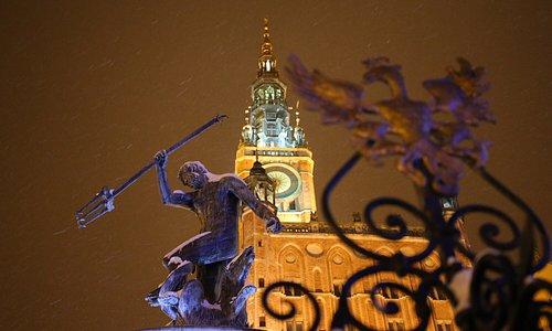 Ratusz Głównego Miasta i Fontanna Neptuna / Main Town Hall and Neptune's Fountain. Fot. Dariusz Kula