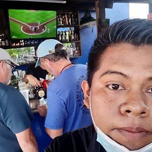 Mayo 2021 at the terrace bar 🙌🌴🍻🍻🤪🤪