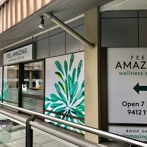 Feel amazing signage. Multi Award-winning Chatswood Massage, Chiropractor, Acupuncture, Dry Needling, Pregnancy Massage and Naturopathy. Located near Chatswood Westfield. Chatswood's Best therapists working as a team to help you Feel Amazing