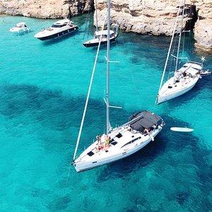 Anchored in Comino, Blue Lagoon