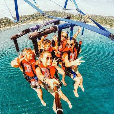 Ste maxime parachute ascensionnel en vol 5 personnes
