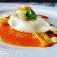 Il culurgiones da Edo e Lori in salsa di datterino rosso e datterino giallo 💛