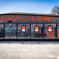 The new entrance to the Museum of the Home, opposite Hoxton Station