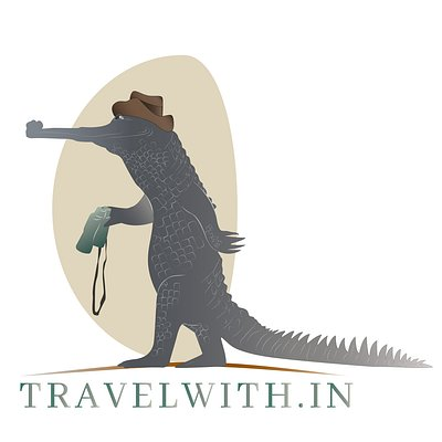 Our logo - featuring the critically endangered Gharial crocodile which can be spotted in the Chambal River during a river safari that we organize.