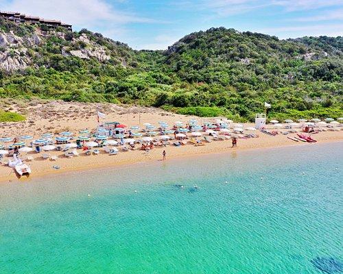 Sand beach, turkish sea