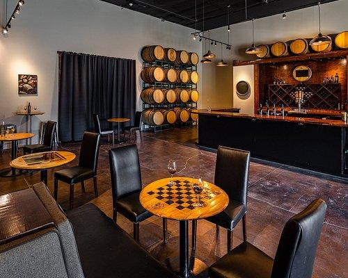 Carr Winery tasting room interior in Santa Ynez, California