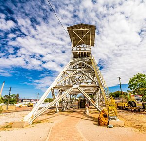 Explore Outback at Isa's display of ex-mining machinery during the Hard Times Mine Tour.