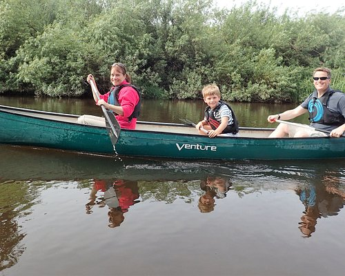 3 seater canoes - ideal for a family of 3!