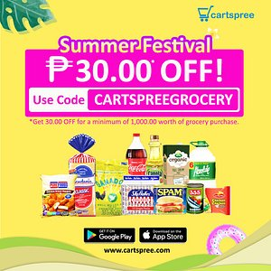 Get exclusive discounts and special offers via the Cartspree app! Download the app via Google PlayStore and the App Store or visit www.cartspree.com today!