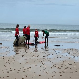 I'd an excellent lesson with Chris at Bamburgh beach - teenager even said it was 'the best day ever!!!' Youngest was well supported and engaged with excellent tuition and plenty of ideas to keep her having fun - while we tried to surf!