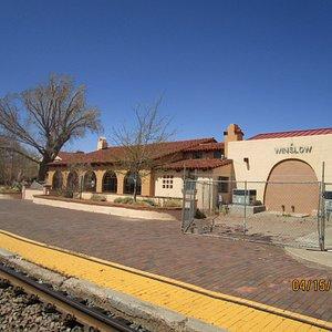 Museum as seen from railroad passenger platformt